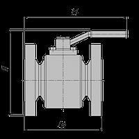 Кран шаровый наземный фланцевый PN63 с ручным управлением DN 50