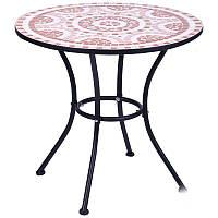 Металлический стол Аквитания hy-mft008 сталь черн. 95169/мозаика, TM AMF