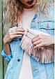 """Женская кожаная сумка на пояс """"Spirit"""". Розовая., фото 8"""