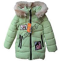 """Куртка детская для девочек """"Леди"""" 116-140 см. светлый мох Китай Оптом Li 17-1"""
