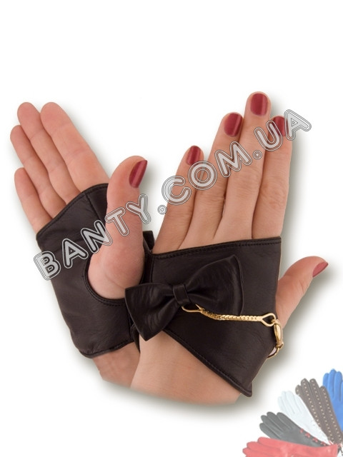 Женские перчатки без пальцев модель 400