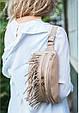 """Сумка женская кожаная на пояс """"Spirit"""". Цвет светло-бежевый, фото 10"""