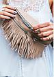 """Женская кожаная сумка на пояс """"Spirit"""". Светло-бежевая., фото 7"""