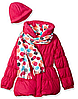 Куртка с шарфом и шапкой Pink Platinum (США) для девочки 3-4 года