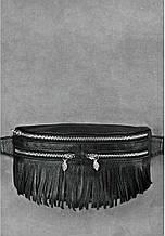 """Женская сумка на пояс """"Spirit"""". Черная."""