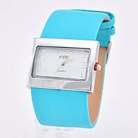 Часы 54765 диаметр циферблата 4 см, длина ремешка 15-20 см, бирюзовый цвет