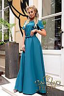 Элегантное женское платье в пол с декором