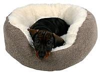 Лежак Trixie Yuma ткань и искусственный мех, бело-коричневый, 50 см, фото 1