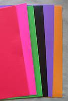 Бумага цветная, мелованная, самоклейка  А4 6 листов