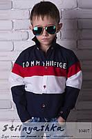 Рубашка на мальчиков Томми Хилфигер синяя