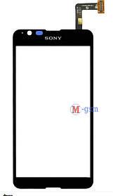 Сенсор (тачскрин) для телефона SONY E2003 black