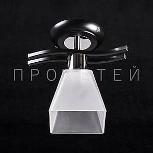 Припотолочная люстра на одну лампочку P3-B015/1C/BK+CR+WT