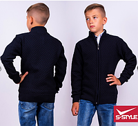 Модная кофта для мальчика на молнии,р.7-12 лет,S-Style