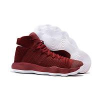 Баскетбольные кроссовки Nike Hyperdunk 2017 Flyknit бордовые
