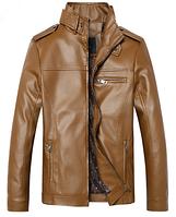 Мужская кожаная куртка. Модель 61127