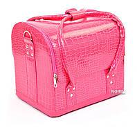 Кейс для косметики, кожаный Розовый