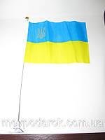 Флажок с тризубцем, с присоской, символика Украины