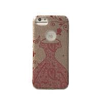 Чехол силиконовый  Aspor Mask Collection Платье красное в золоте для iPhone 7