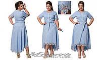 Летнее жаккардовое платье Кармен (размеры 50-54)