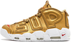 Мужские кроссовки Nike Air More Uptempo Supreme Suptempo Gold