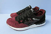 Мужские кроссовки ASICS (035-7) бордовые с черным код 0773А