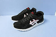 Мужские кроссовки ASICS (035-8) черно-белые код 0774А