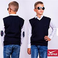 Жилетка для мальчика ,р.7-12 лет,S-Style