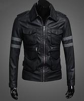 Мужская кожаная куртка. Модель 61129