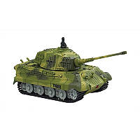 Танк микро р/у 1:72 King Tiger со звуком (зеленый, 27MHz) (код 191-379472)