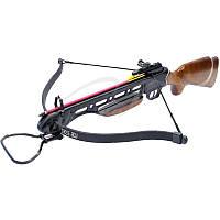 Арбалет Man Kung MK-150A1, Рекурсивный, винтовочного типа, деревянный приклад ц:коричневый + сертификат на 150 грн в подарок (код 186-391075)