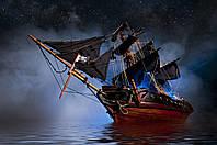Скинали Корабль - стекло с фотопечатью
