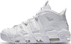 Женские кроссовки Nike Air More Uptempo Triple White 921948-100, Найк Аир Мор Аптемпо