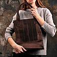 """Сумка-шоппер женская кожаная """"Бэтси"""" Орех, фото 3"""