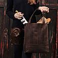 """Сумка-шоппер женская кожаная """"Бэтси"""". Цвет орех, фото 8"""