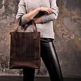 """Сумка-шоппер женская кожаная """"Бэтси"""". Цвет орех, фото 6"""