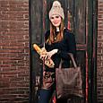 """Сумка-шоппер женская кожаная """"Бэтси"""". Цвет орех, фото 10"""