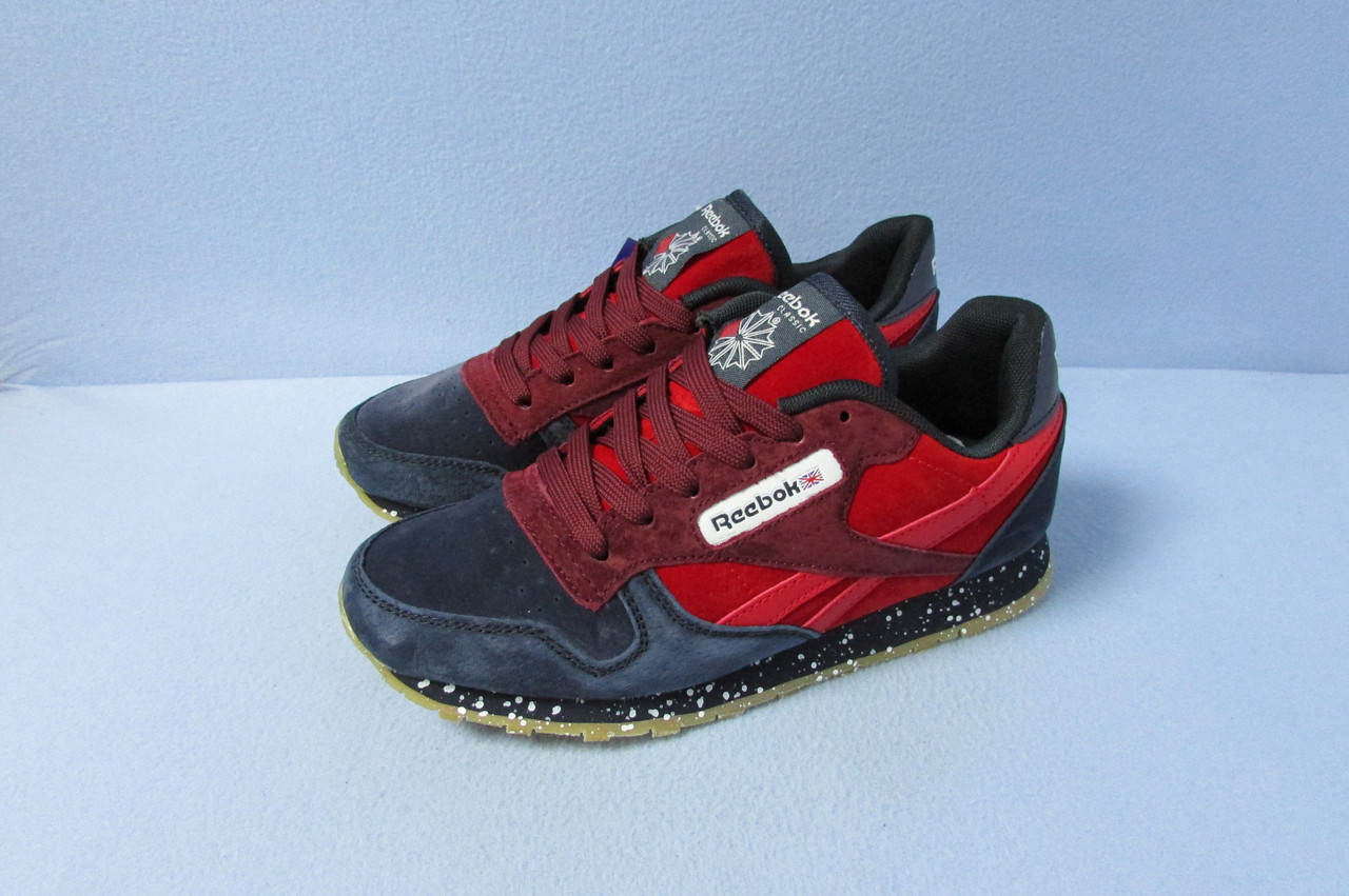 726f4bdd53c5 Кроссовки Reebok 037-8 темно синие с красным код 0768А  продажа ...