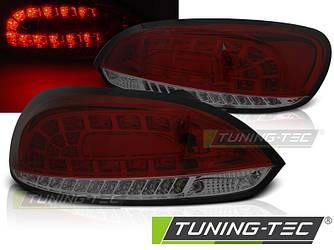 Стопи ліхтарі тюнінг оптика Volkswagen Scirocco 3 червоно-тоновані