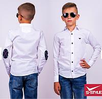 Стильная рубашка для мальчика ,р.9-12 лет,S-Style