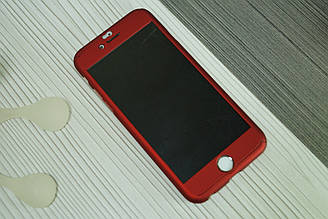 Чехол для iPhone 6  360 градусов (двухсторонний ) красный