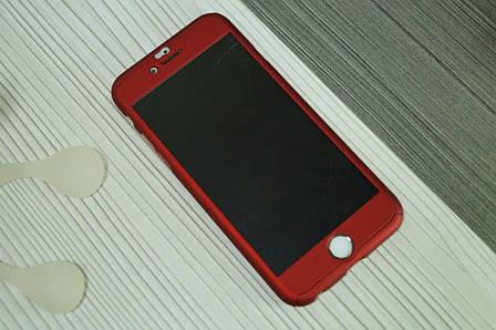 Чехол для iPhone 6  360 градусов (двухсторонний ) красный, фото 2