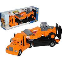 Майк, автомобиль-трейлер + дорожный каток (в коробке) (55712) (код 175-443558)