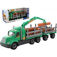 Майк, автомобиль-лесовоз с прицепом (в коробке) (55668) (код 175-443556)