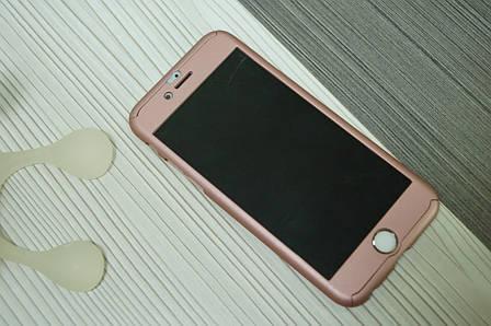 Чехол для iPhone 6  360 градусов (двухсторонний )розовое золото, фото 2