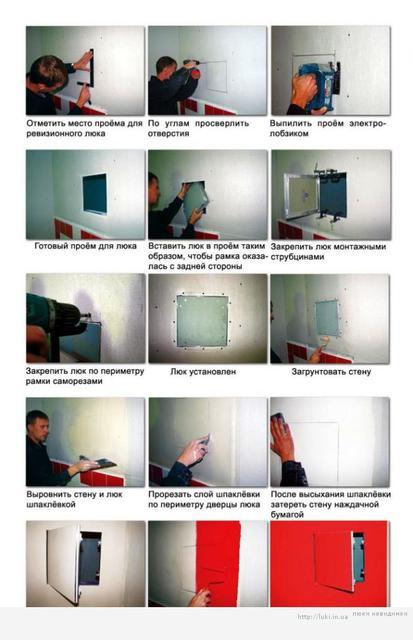 Як встановити алюмінієвий люк невидимку під фарбування типу Планшет
