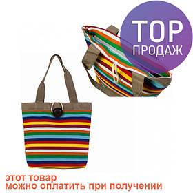 Сумка холщовая Узкая полоса / женская сумка