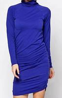 Короткое облегающее платье SiSi, цвет фиолетово-синий р. S-L