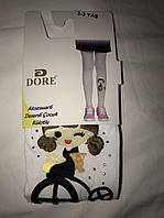 "Детские колготки ""Dore"" с вышитым рисунком на 2-3 года"