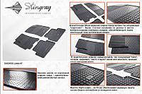 Комплект резиновых ковриков Шевроле Ланос (4шт)