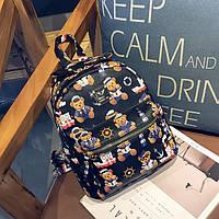 Черный рюкзак Мишка, фото 1